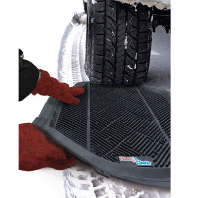 Keep a car mat nearby in case your tires can't get traction.