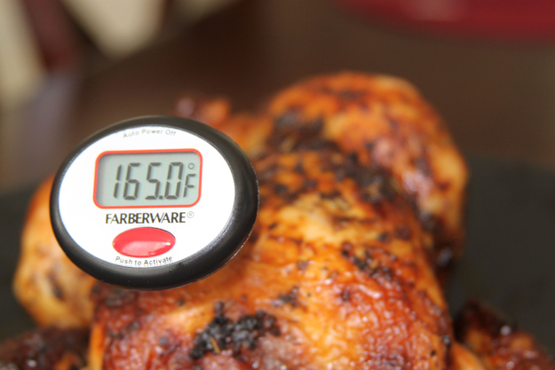 You cook the turkey past 165°F.