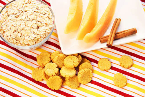28. You can even make all natural treats for your dog with cantaloupe, honey, and oats