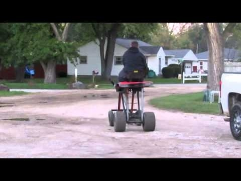 Huge Jacked Up Lifted Lawn Tractor Garden Tractor Cub