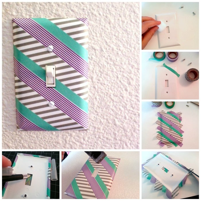 Yet another thing you can cover in washi tape, like this blogger did.