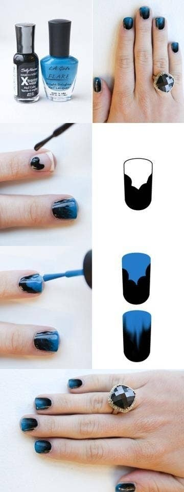 32 Easy Nail Art S For The Perfect Manicure Ombre Nails Without Sponge