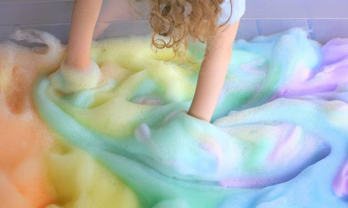 This mess-tastic project is a great sensory activity for your younger kids. Make sure to use dish soap so you can convince the little ones to wash their snack bowls. Recipe here.
