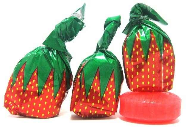 If my grandmother didn't have orange tic tacs, she'd have these in her purse. These strawberry candies seemed to survive a couple of Christmases and Halloweens before they'd be consumed in the present day. THEY'RE BIONIC!