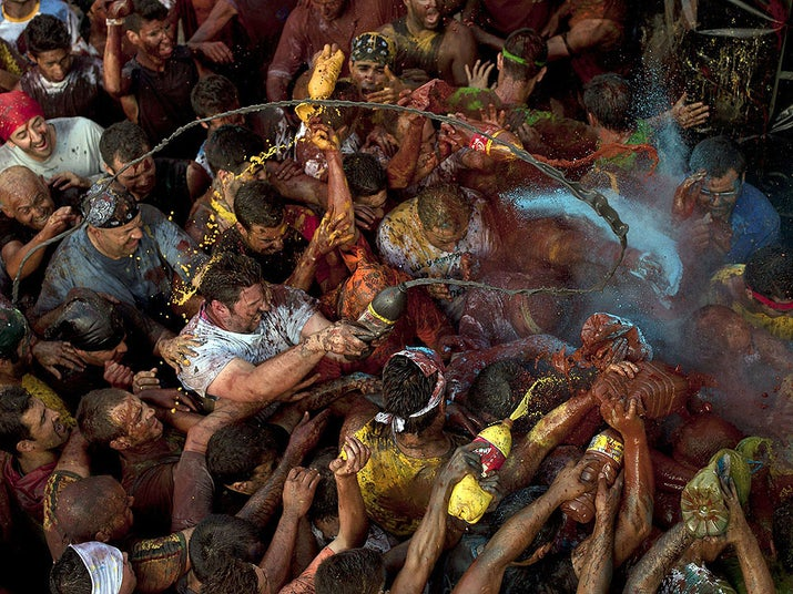"""When: Sept. 6Where: Baza, Spain, in the province of GranadaWhy you should go: Every year hundreds of Spaniards cover themselves in grease to reenact the stealing of a famous statue of the """"Virgen de la Piedad,"""" which took place over 500 years ago. Best of all, after the greasing, a great big party ensues."""