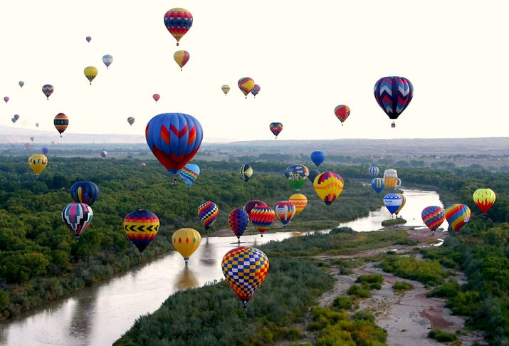 When: Oct. 5–13 (for 2014) Where: Albuquerque, N.M. Why you should go: The Albuquerque International Balloon Festival is the largest gathering of hot air balloons in the world. Essentially it's like Up — but better.