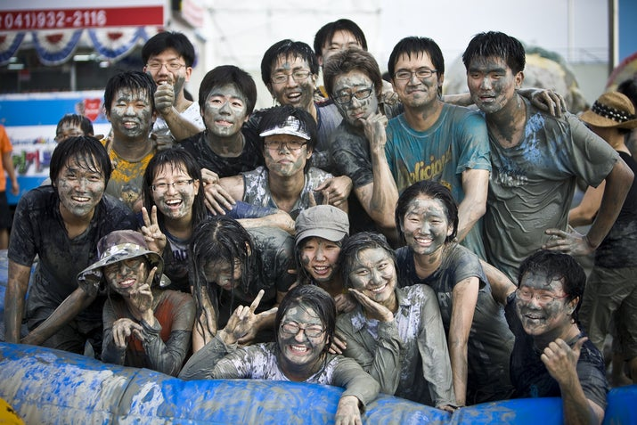 When: July 18–27 (for 2014)Where: Boryeong, South KoreaWhy you should go: Korea is known for its plethora of seemingly random festivals, but MudFest is perhaps the greatest among them. It takes place right by the Daecheon Beach, so you can easily muddy yourself up, then pop into the ocean to rinse off.