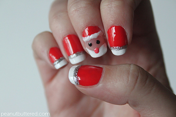 21 easy holiday nail designs prinsesfo Choice Image