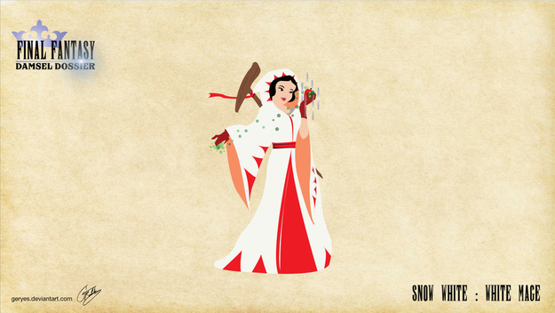 Snow White as the poisonous healer.