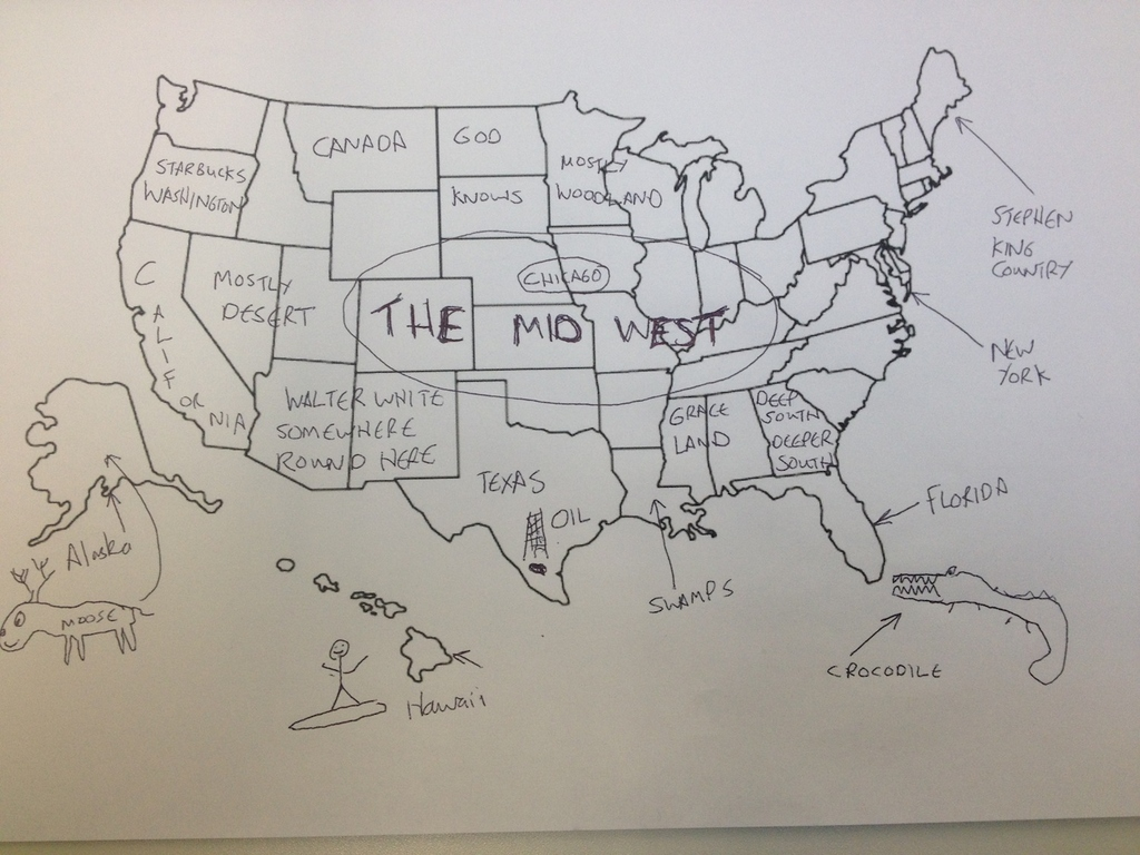 Its Thanksgiving So We Asked Brits To Label The United States
