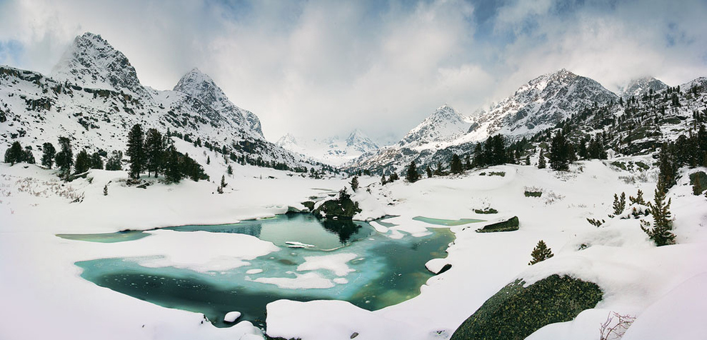 Lake Darashkol in the Altay Mountains, Russia