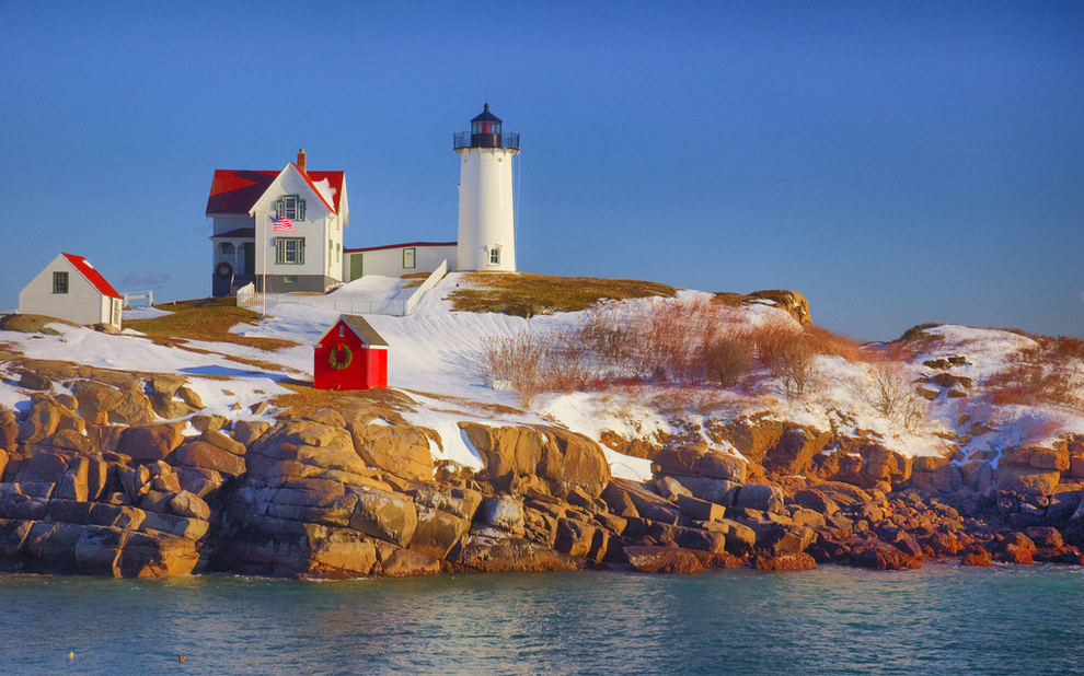 The Nubble Lighthouse in York, Maine
