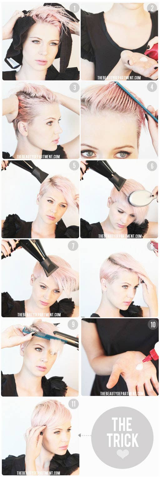 18 awesome style ideas for pixie cuts 6 chic combover urmus Image collections