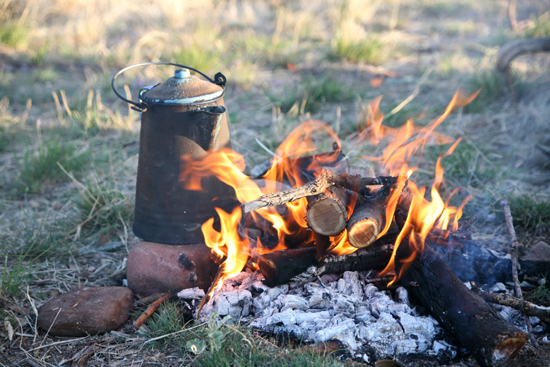 Cowboy coffee is the easiest and best way to make coffee while camping.
