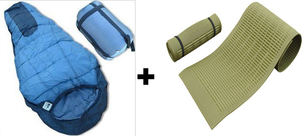 Yoga mats can double as foam sleeping pads to isolate you from the ground.