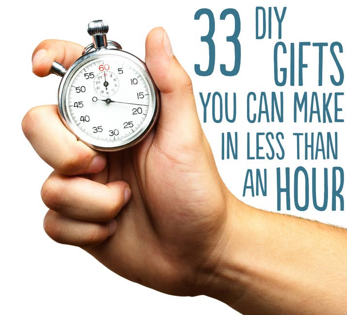 33 diy gifts you can make in less than an hour share on facebook share solutioingenieria Images