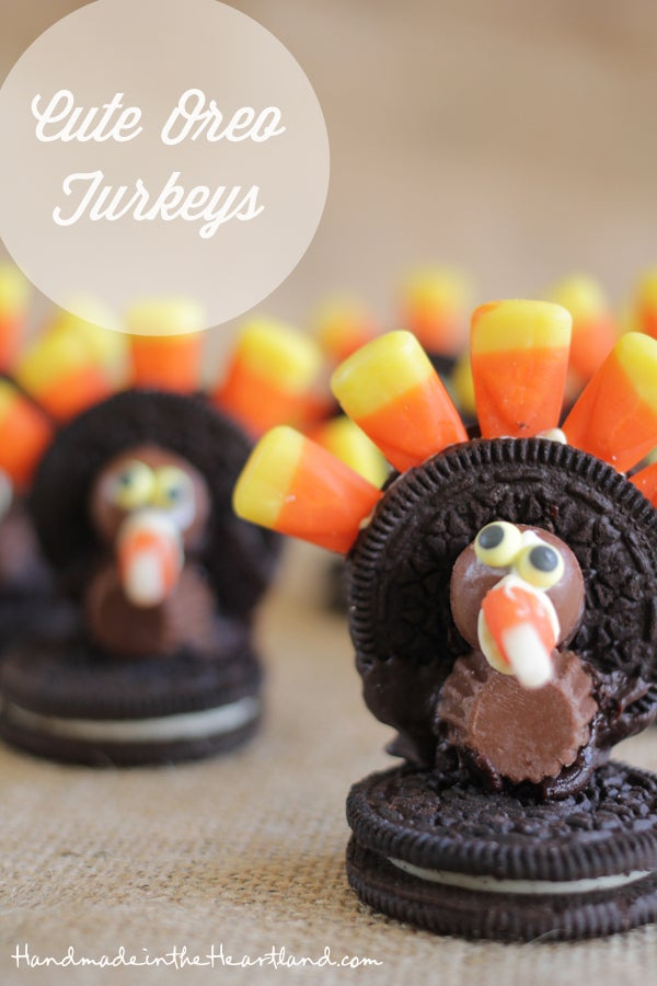 Making something out of cookies and candy? You know your kids are in. Find the directions for these super cute turkeys here.