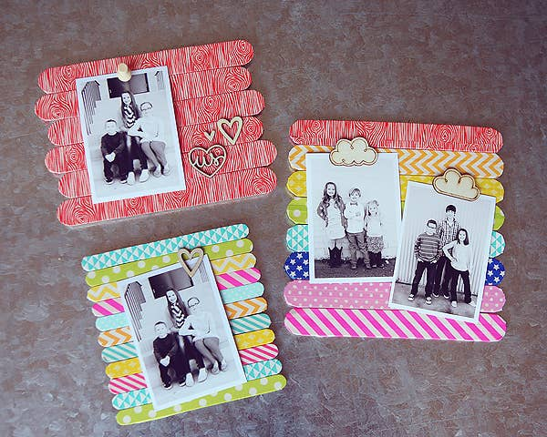 1 popsicle stick frames