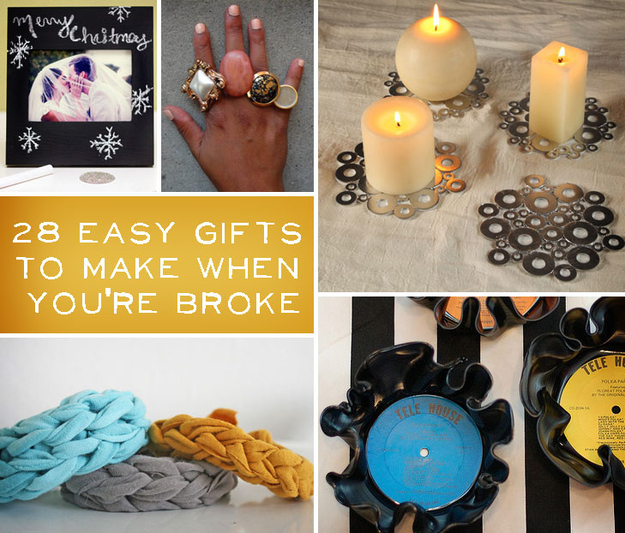 28 gifts to make when you 39 re broke for Useful gifts to make