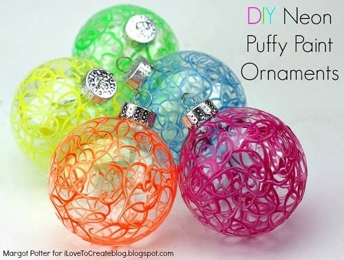 DIY Puffy Paint Ornaments