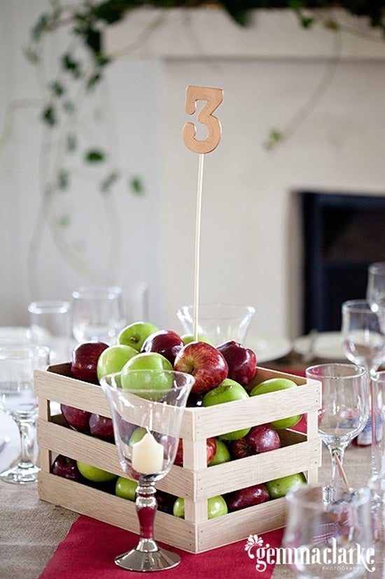 Or put them in crates. They can pull double-duty as table centerpieces for a country wedding.