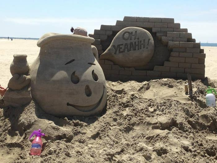 Or better yet, get creative by making sand sculptures!