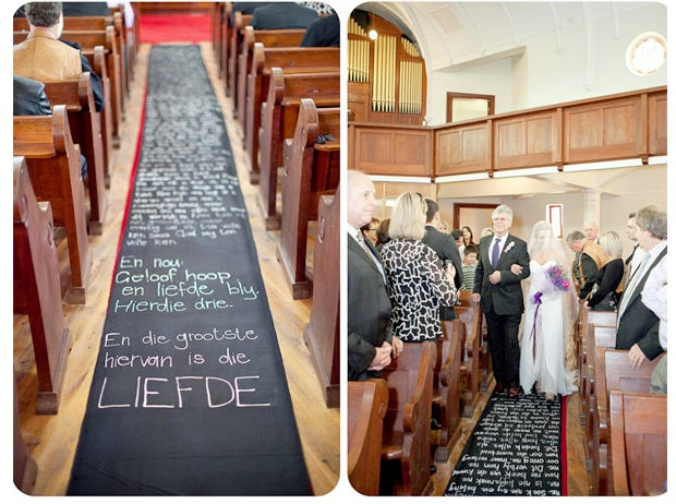 Give your guests something to read while waiting for the ceremony to begin.