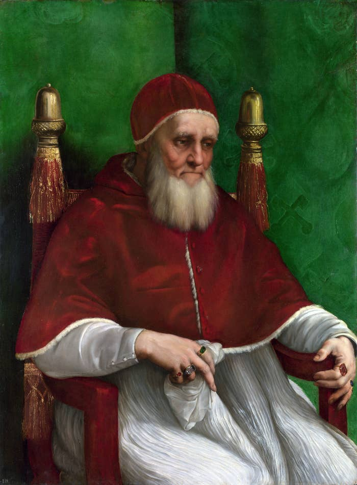 "Favorite quote:""Pope Julius II (1503–1513) had three illegitimate daughters... The schismatic Conciliabulum of Pisa, which sought to depose him in 1511, accused him of being a 'sodomite covered with shameful ulcers.'"" (In fairness, most people back then were covered in ulcers.)[Link to article]"