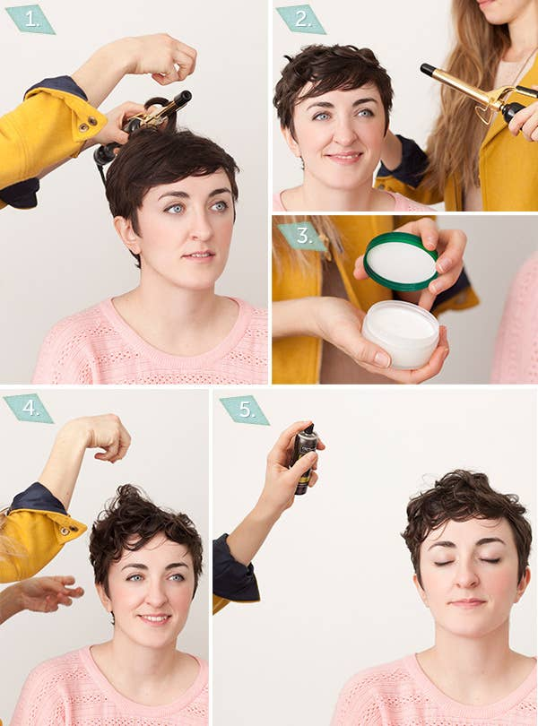 18 awesome style ideas for pixie cuts 1 curling iron curls urmus Image collections