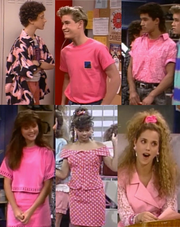 Image result for saved by the bell buzzfeed pink shirts