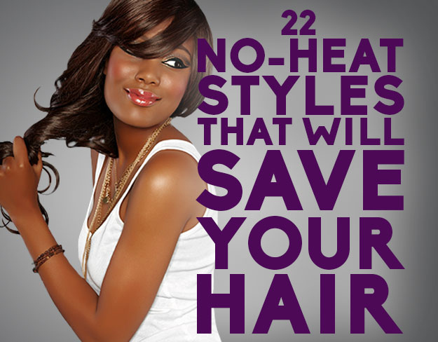 Cool 22 No Heat Styles That Will Save Your Hair Short Hairstyles Gunalazisus