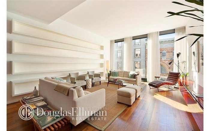 """The eminently handsome and ubiquitously entertaining Ricky Martin no longer wants the luxury condo he bought at 40 Bond Street in New York City, so it's on the market for $8.3 million.The Puerto Rican pop star was an original buyer in the swanky-cool Bond Street building when units for the condo building first came on the market in 2007. However, with twin sons and his partner needing more family-friendly quarters, Martin opted for a bigger place on the Upper East Side. Last year, Martin paid $5.9 million for a 3,147-square foot apartment across from a big park, making the Bond Street unit dispensable.Martin's home is a 3-bedroom, 3.5-bathroom unit with 2,637 square feet of living space. High ceilings further enhance the 11-foot-high windows in the living room. """"Austrian smoked oak"""" floors extend from the living space into the kitchen and master suite. On-site amenities include a 24/7 doormen and gym.Martin is no stranger to real estate wheeling and dealing, or other kinds of high-octane celebrity moves. In addition to selling several Miami area luxury homes in the past few years, Martin has been busy appearing on Broadway in """"Evita,"""" and is now hawking his kids' book across the country. Want to live la vida loca in New York like Martin? Check out more Manhattan real estate for sale."""