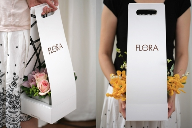 A cool new way to carry your flower arrangement.