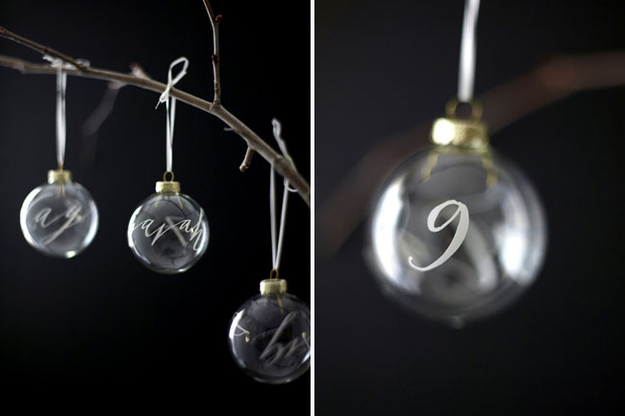 19. Calligraphy Decal Ornaments