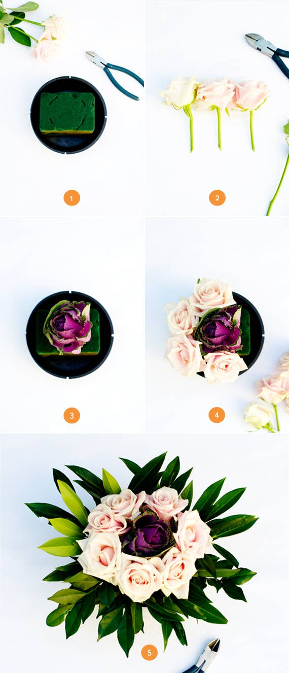 You don't need any prior flower arranging experience to create these simple but stunning centerpieces. The best part: You can make them a few days in advance.