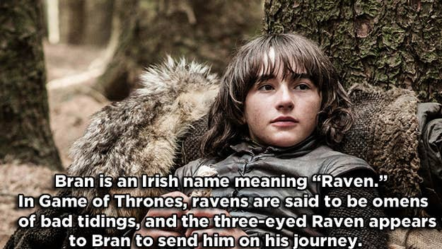 *In the books, it is a three-eyed crow that appears to Bran instead of a raven.
