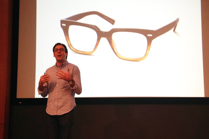Warby Parker co-founder Neil Blumenthal speaking at last month's Lucky magazine's conference