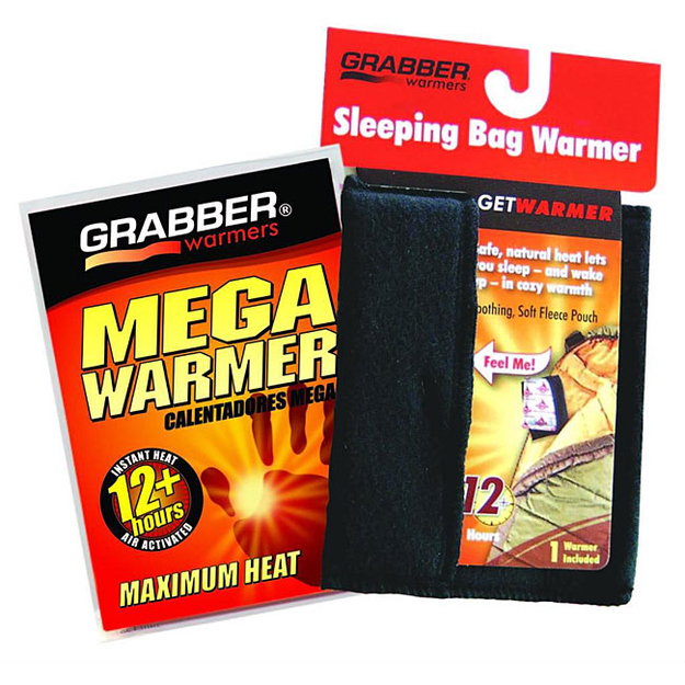 Use hand warmers to warm up your sleeping bag.