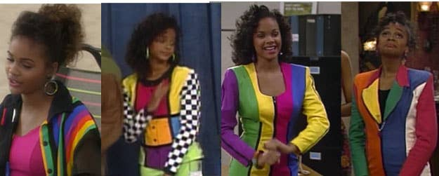 9 lisa wore every color at once - Saved By The Bell Halloween Costume