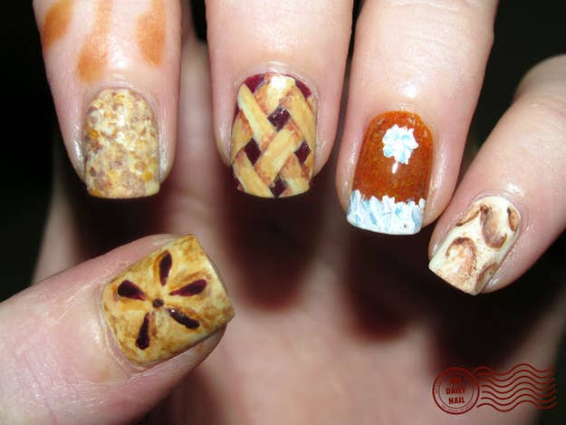 Peanuts thanksgiving nail art best image nail 2017 23 snazzy nail ideas for thanksgiving prinsesfo Gallery
