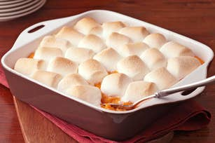Marshmallows are for s'mores, not for vegetables.