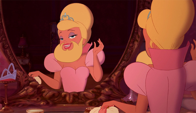 In 2013, the ladies of Disney grew epic beards.