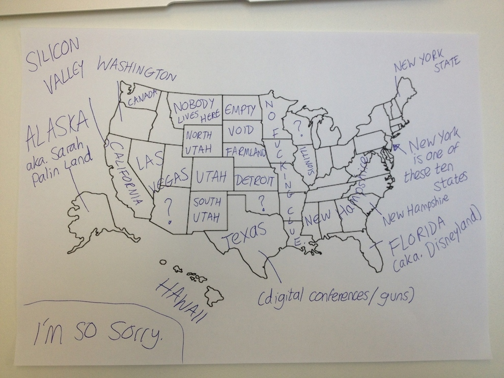 How Europeans See The USA Rebrncom - Draw on us map