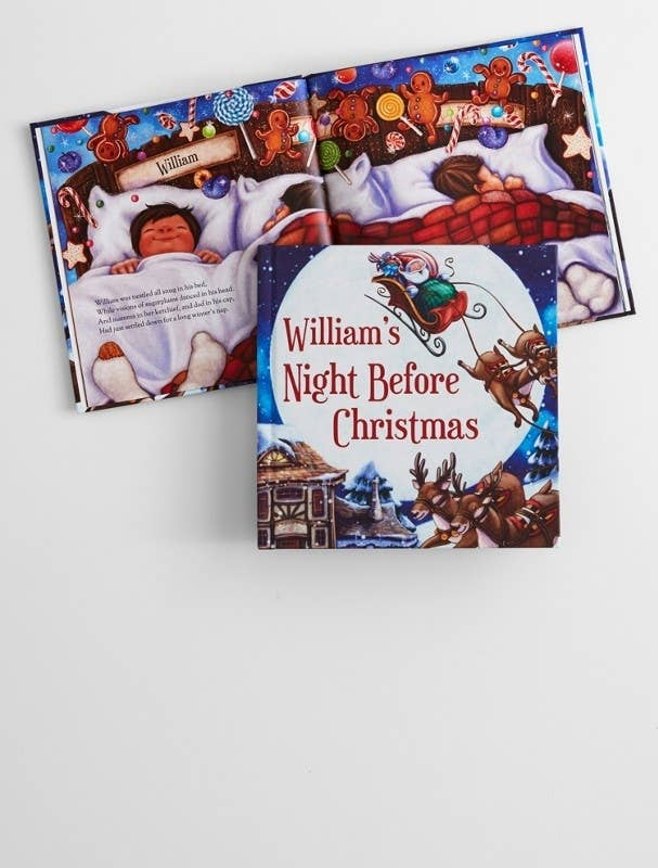 My children LOVE read to be read to. This book that incorporates that special girl's or boy's name will be a book that stays in regular rotation whether it is the holidays or just a cozy, snuggle up and read Tuesday night. This is the PERFECT Christmas Eve gift to open right before bed.