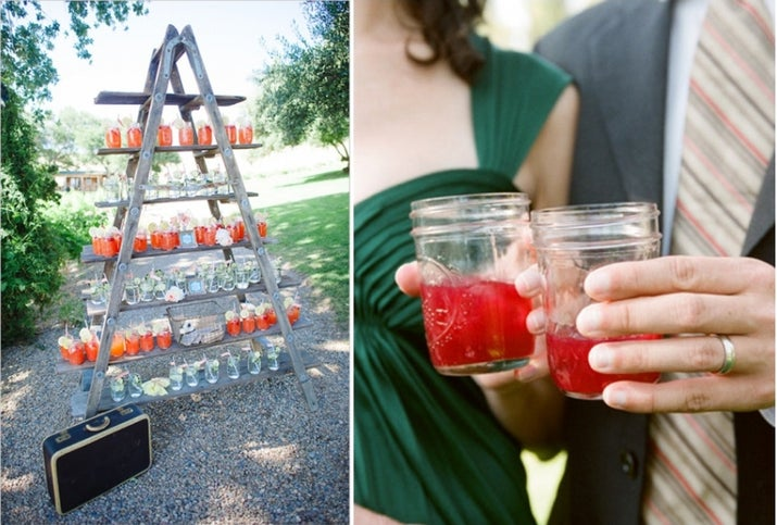While making your own cocktails is actually rather laborious, you will save boatloads of money going this route instead of an open bar, which no one will miss once they see this gorgeous display.
