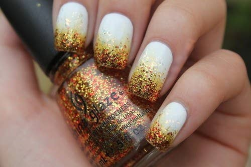 2. Autumn Ombre - 23 Snazzy Nail Ideas For Thanksgiving