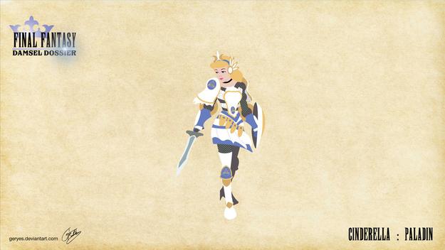 Cinderella as the virtuous defender.