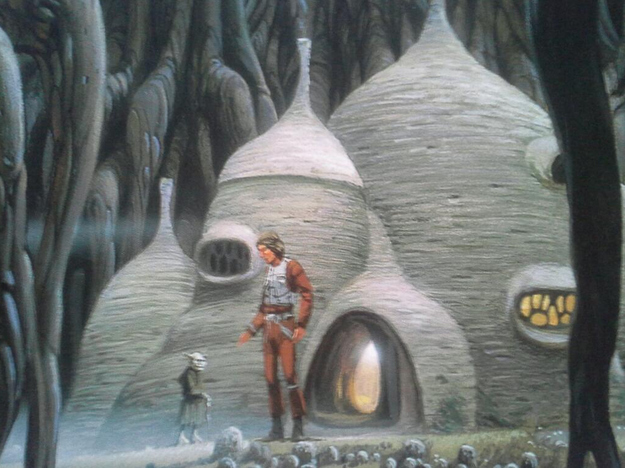 Bonus! McCrabb also snagged a piece of concept art of the Dagobah set.