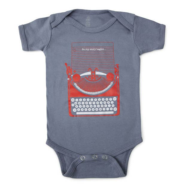 58f776bb3 This is a really sweet onesie perfect for a literary family. Start your  baby&#
