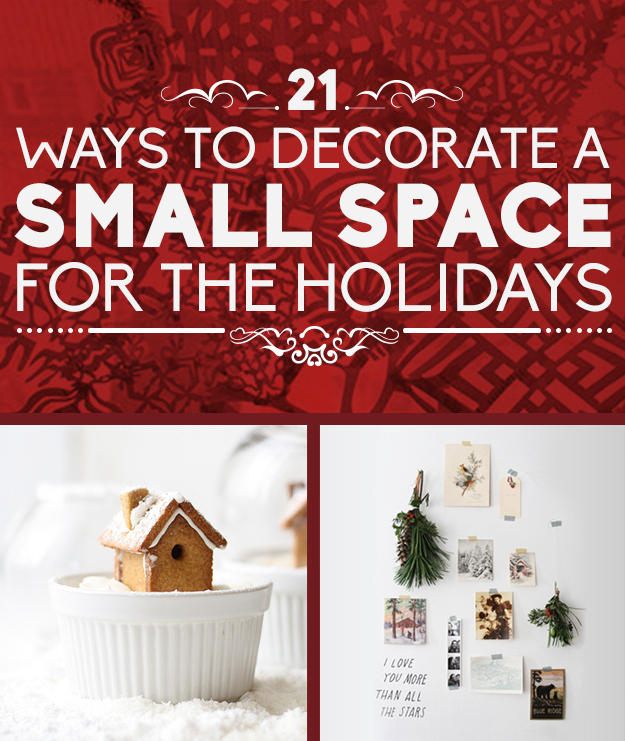 Decorating Ideas > 21 Ways To Decorate A Small Space For The Holidays ~ 013607_Apartment Decorating Ideas Buzzfeed